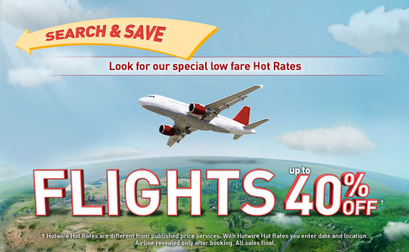 Flight up to 40% off.