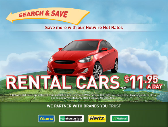 Rental cars from $11.95 a day.
